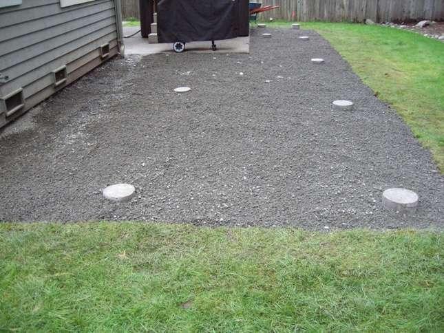 Landscape Fabric Under Deck : Ground under deck